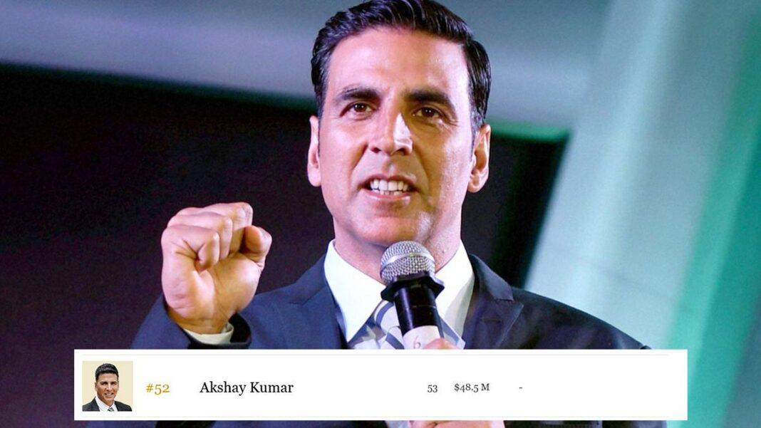Akshay Only Indian in Forbes' Highest Paid Celebs of 2020 List
