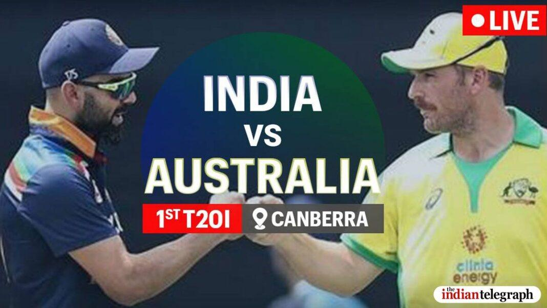 India vs Australia 1st T20I Highlights