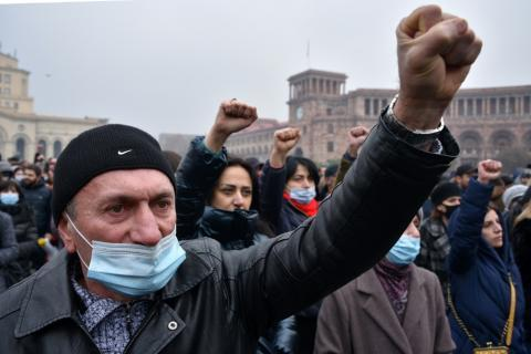 Armenia Opposition Stages Protests, Strike Over Karabakh