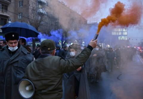 Armenian Protesters Force PM To Curtail Mourning Trip