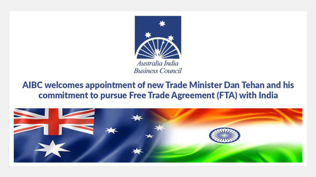 AIBC welcomes appointment of new Trade Minister Dan Tehan and his commitment to pursue Free Trade Agreement (FTA) with India