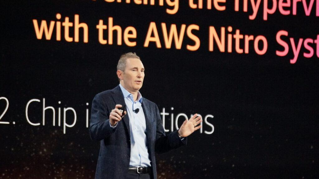 AWS CEO Andy Jassy at the 2019 reInvent conference in Las Vegas