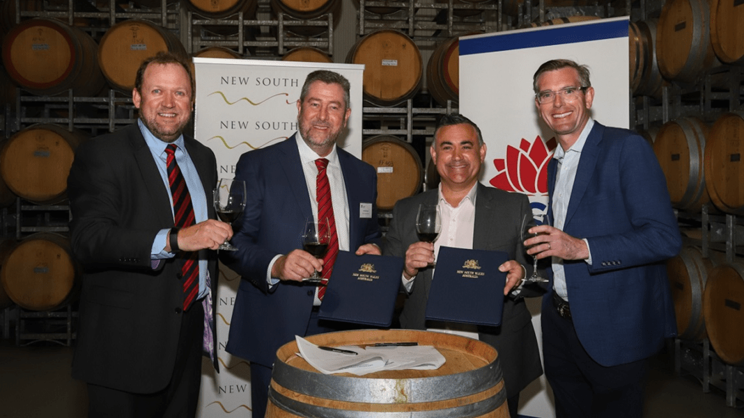 NSW Government Support for Wine Industry
